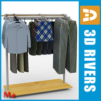 Clothes rack 01 full v1 by 3DRivers