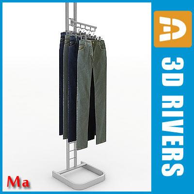 metal clothing rack v1 3d fbx