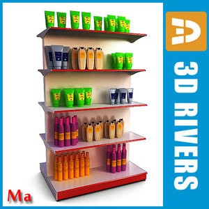 3d supermarkets shelving v1 02 model
