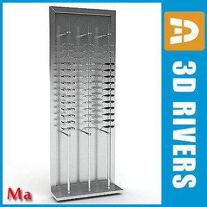 maya glasses rack v1