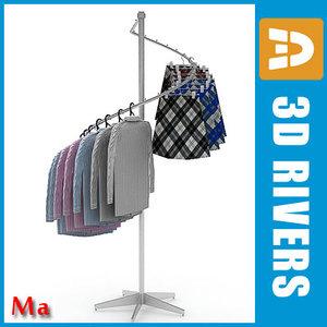 clothing rack v1 02 3d model