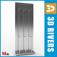 3d model metallic glasses rack v1