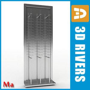 3d model metallic glasses rack v1