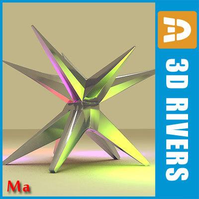 star urban statue 3d model