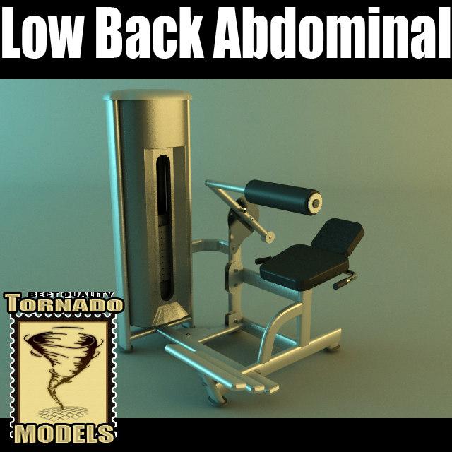 abdominal machine 3d max