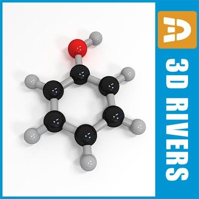 phenol molecule structure 3d max