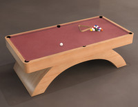 3d model of olhausen waterfall billiards table
