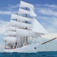 3d modern sailing ship model
