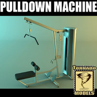 3d model pulldown machine