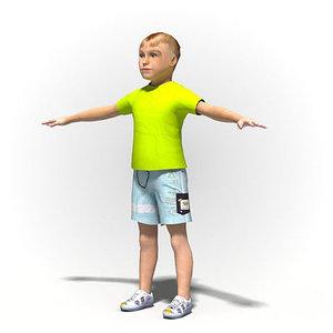 ready rig child boy 3d max
