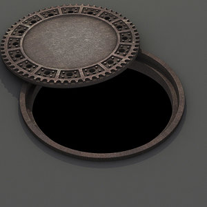 3d model of sewer manhole