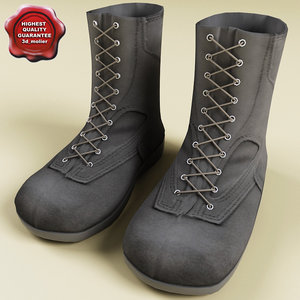 soldiers boots 3d model