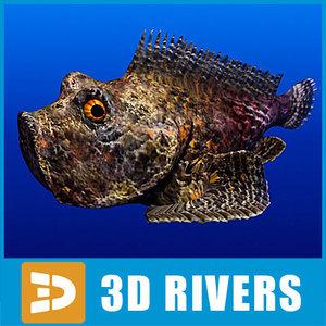 stonefish fish 3d max