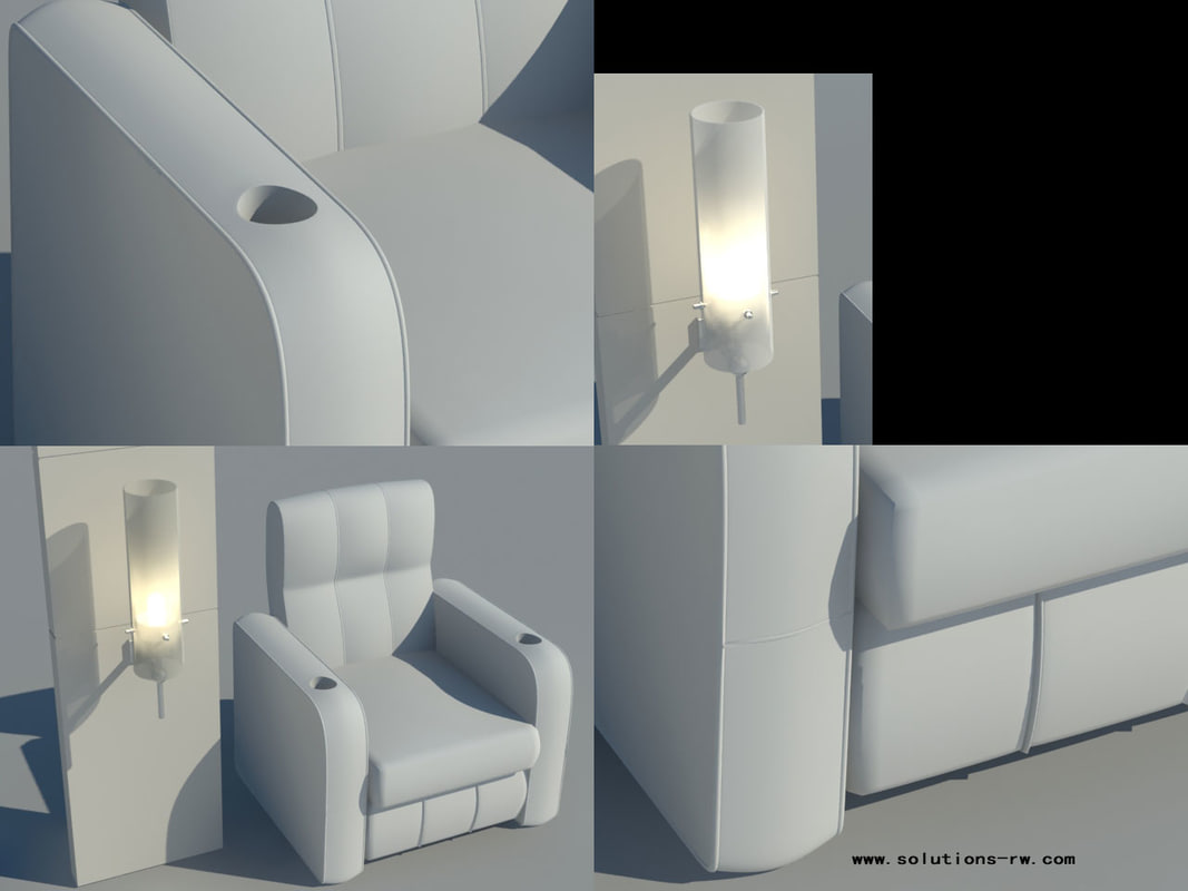 3d theater sofa lamp model
