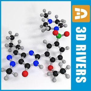 viagra molecule 3d 3ds