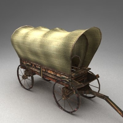3d colonist wagon