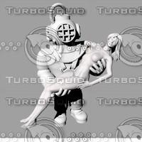 3d frogman 3ds model