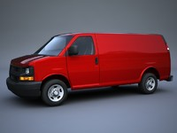 3d gmc chevrolet express delivery van