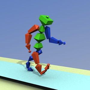 free simple bones 3d model