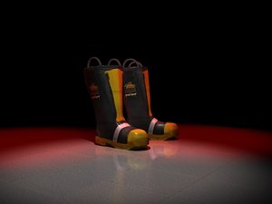 fireman boots 3d max