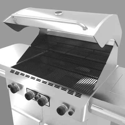 3ds max stainless bbq grills