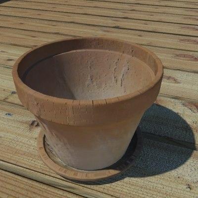 3ds max clay pot