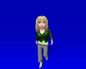 doll functional ready 3d model