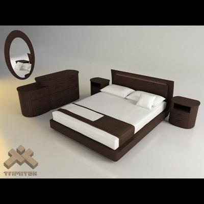 bedroom - europeo eros 3d 3ds