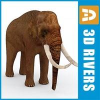 elephant animals large 3d model