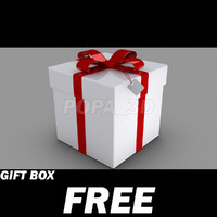 free 3ds model gift box red