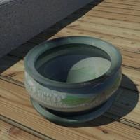 glazed pot 3d model