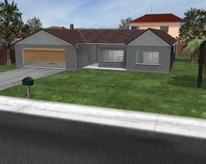 brick house single storey 3d model