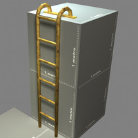 3d model mounting ladder