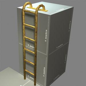 3d model mounting ladder