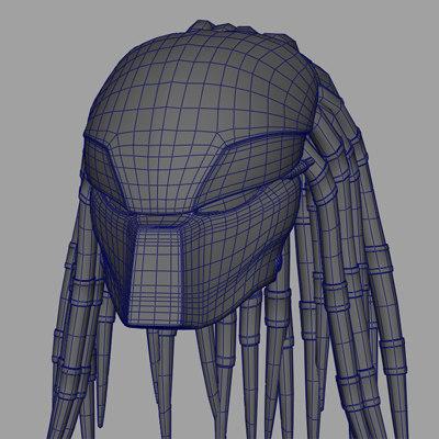predator mask 3d model
