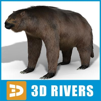 3d model giant megatherium
