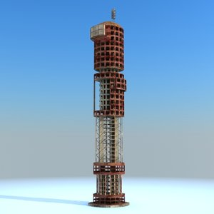 sci fi futuristic building 3ds