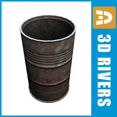barrel old 3d model