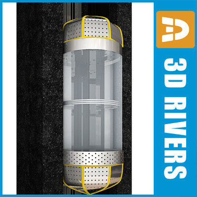 glass panoramic elevator 3d model