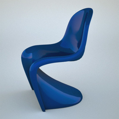3d panton chair