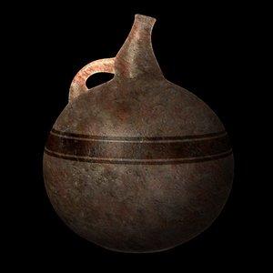 prehistoric vase 3d obj