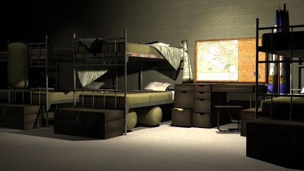 3d deployed barracks