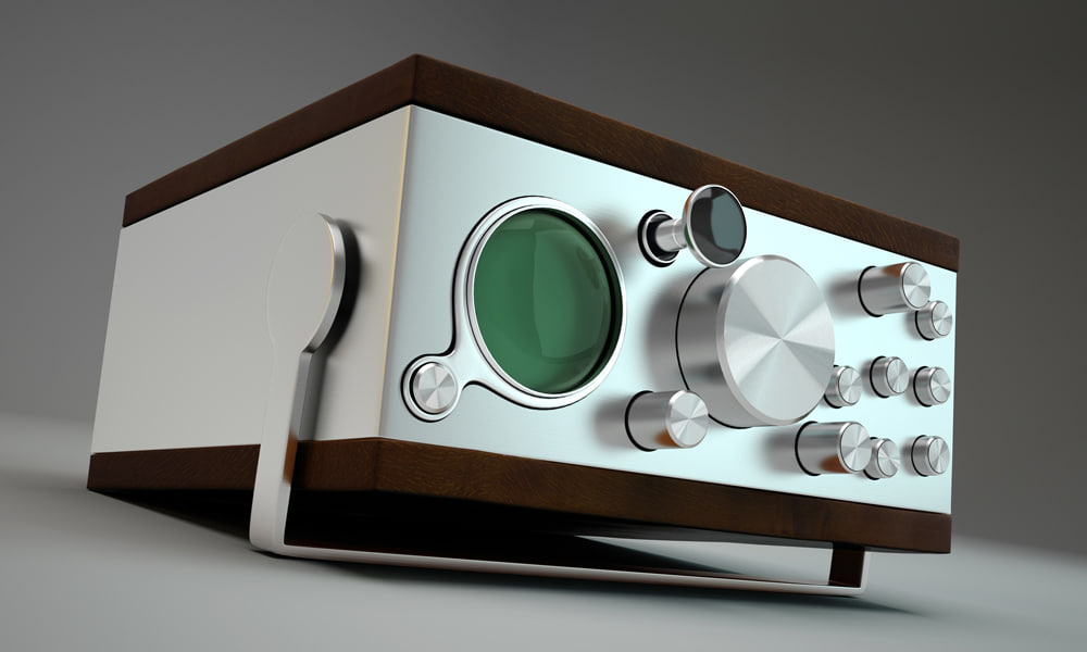 3dsmax retro radio