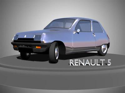 3dsmax renault 5