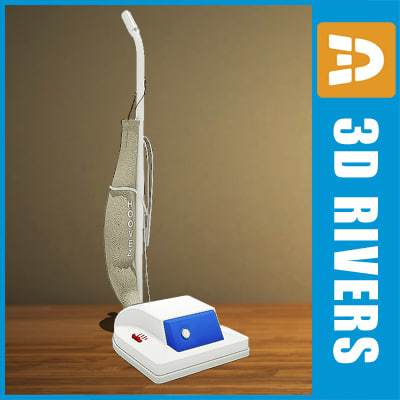 3d retro vacuum cleaner model