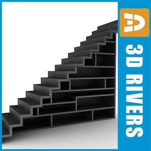 staircase stairs 3ds