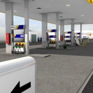 3d gas station model