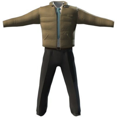 3d suit windbreaker model