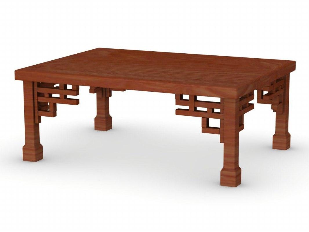 3d model japanese table