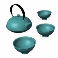 3d teapot set